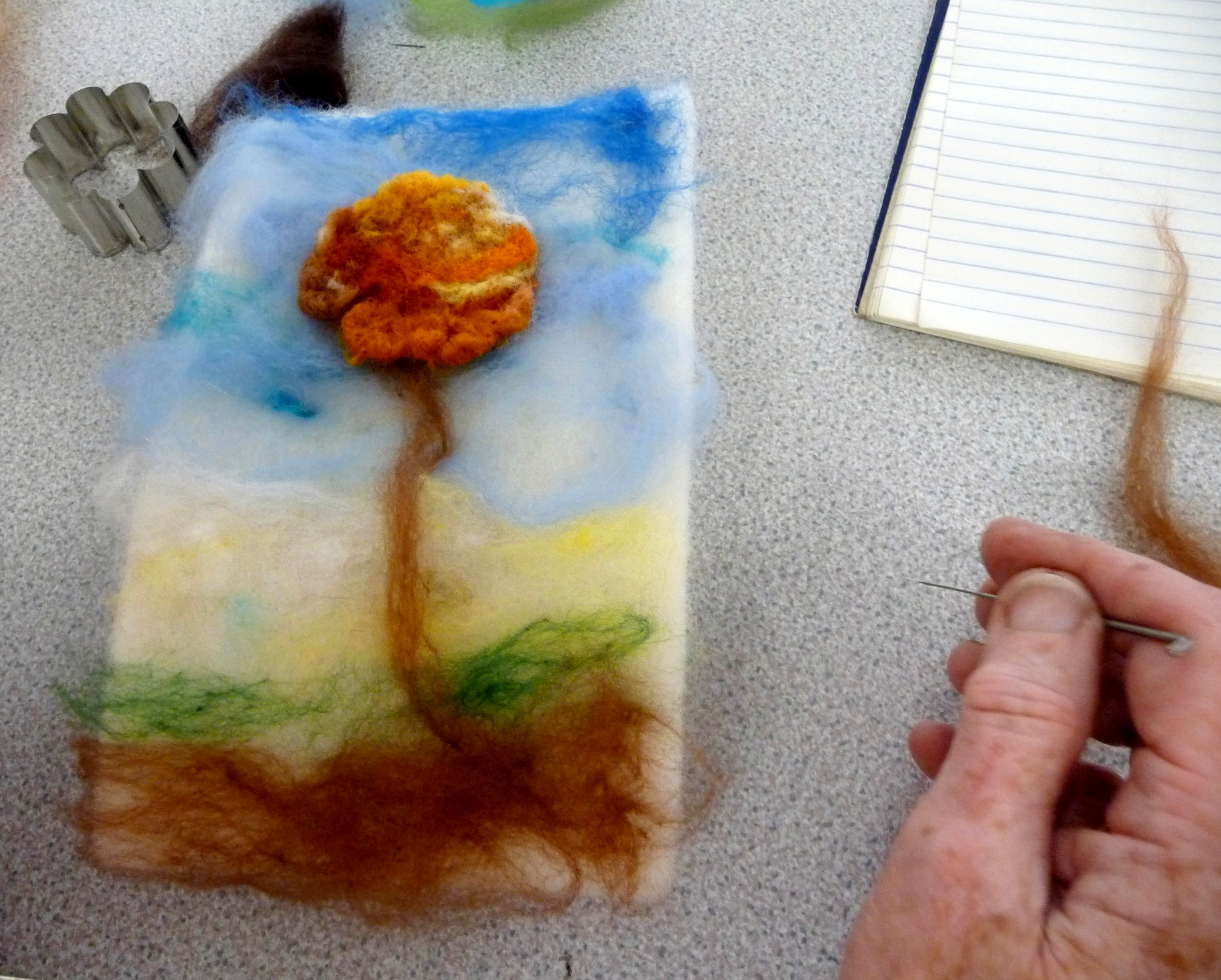 needle felting Workshop - student's work