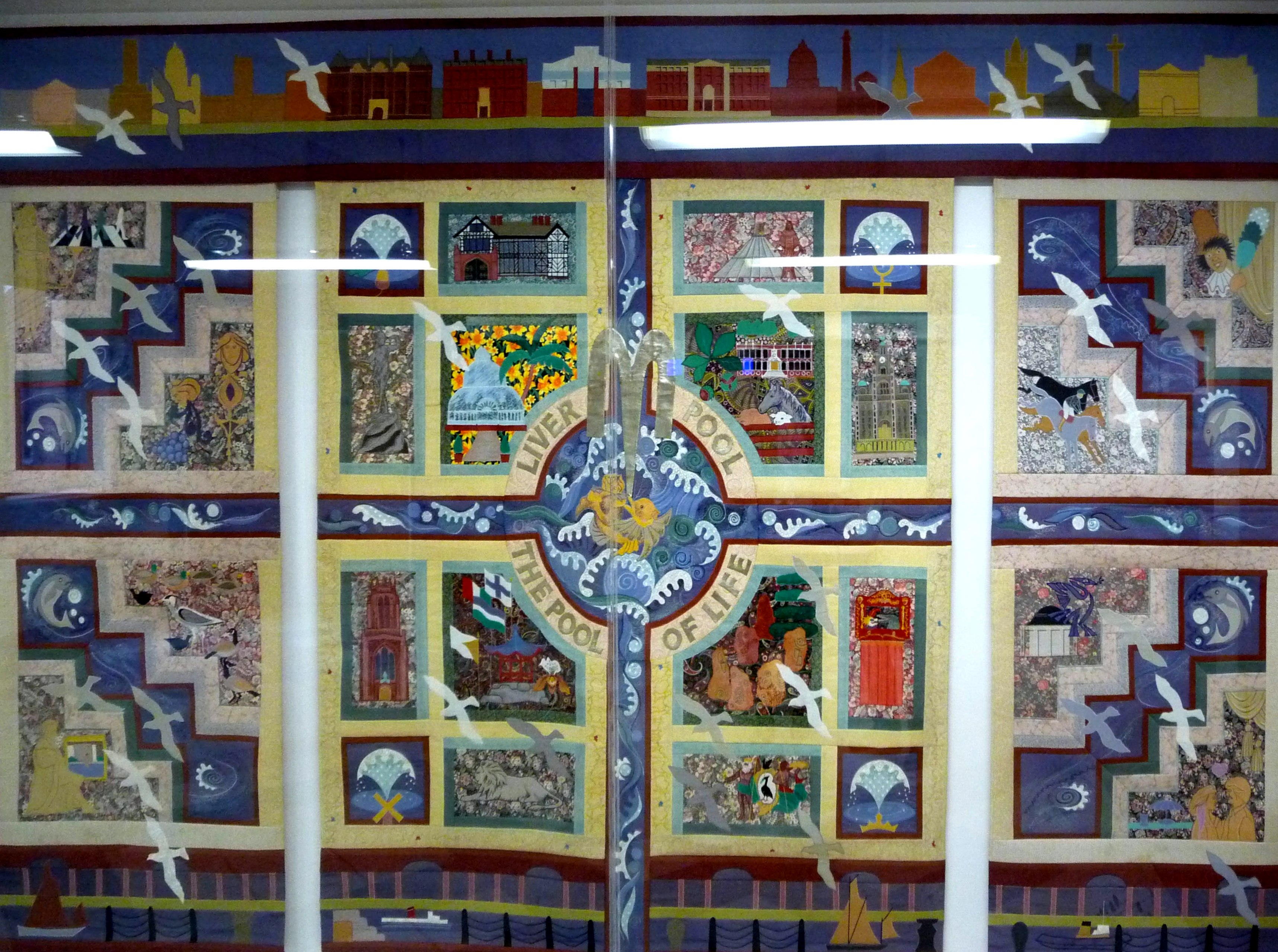 """The Pool of Life Wall Hanging"" by Norma Heron, 1995"
