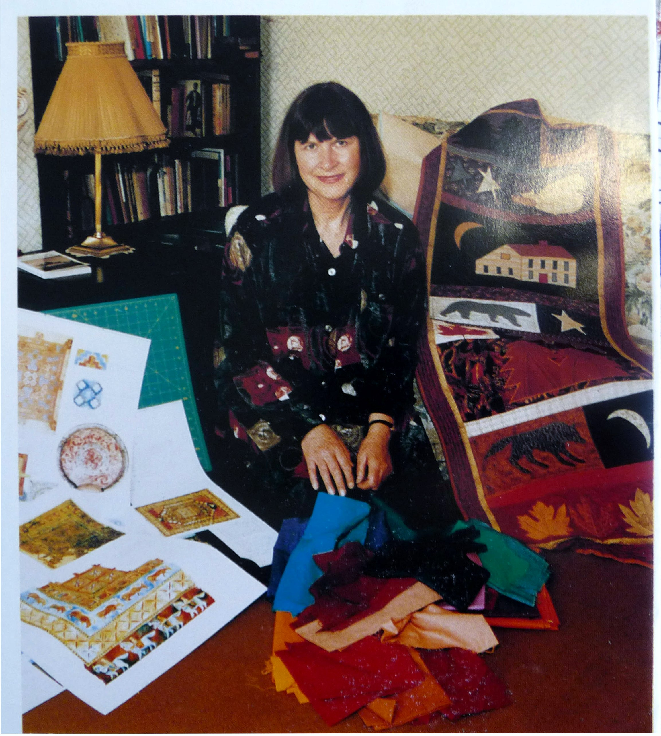 1995 magazine picture showing Norma Heron with some of her work