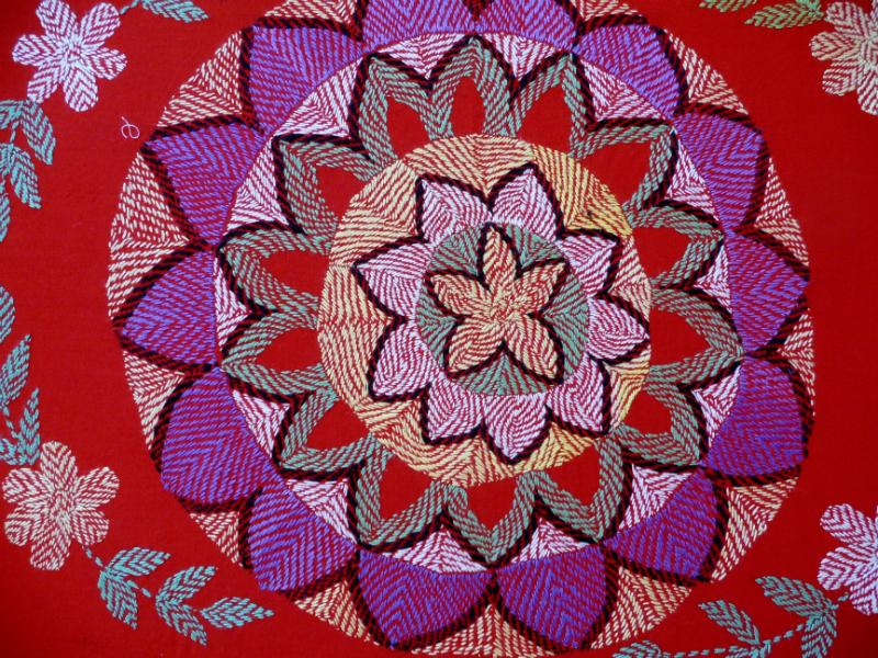 detail of Kantha quilt2 from Bangladesh