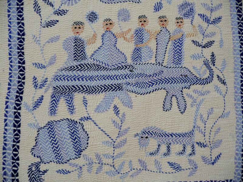 detail of Kantha quilt4 from Bangladesh