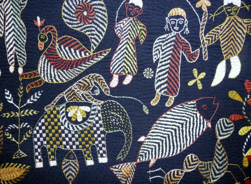 detail of Kantha quilt5 from Bangladesh