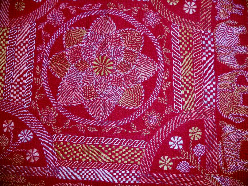 detail of Kantha quilt6 from Bangladesh