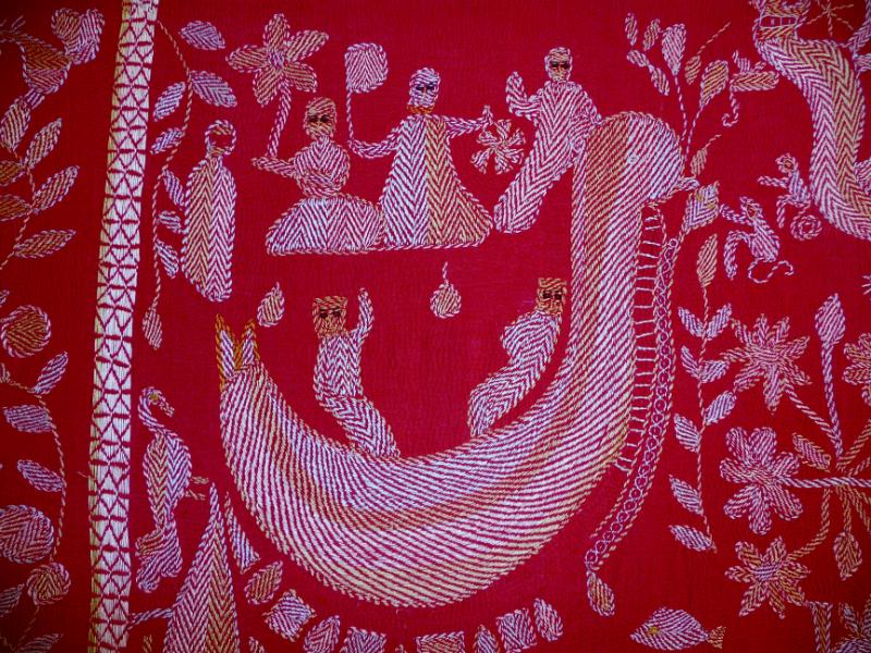 detail of Kantha quilt7 from Bangladesh