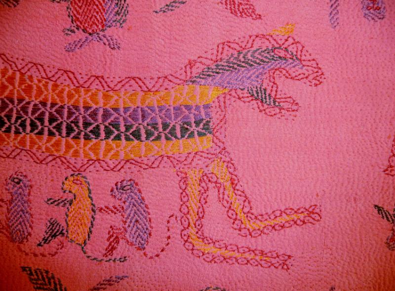 detail of Kantha quilt8 from Bangladesh