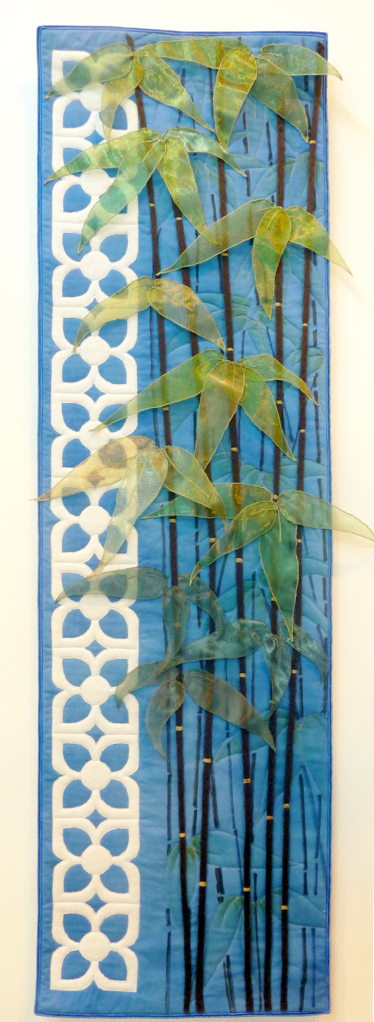 MAJORELLE GARDENS (Bamboo) by Pauline Barnes from Tangent Textiles