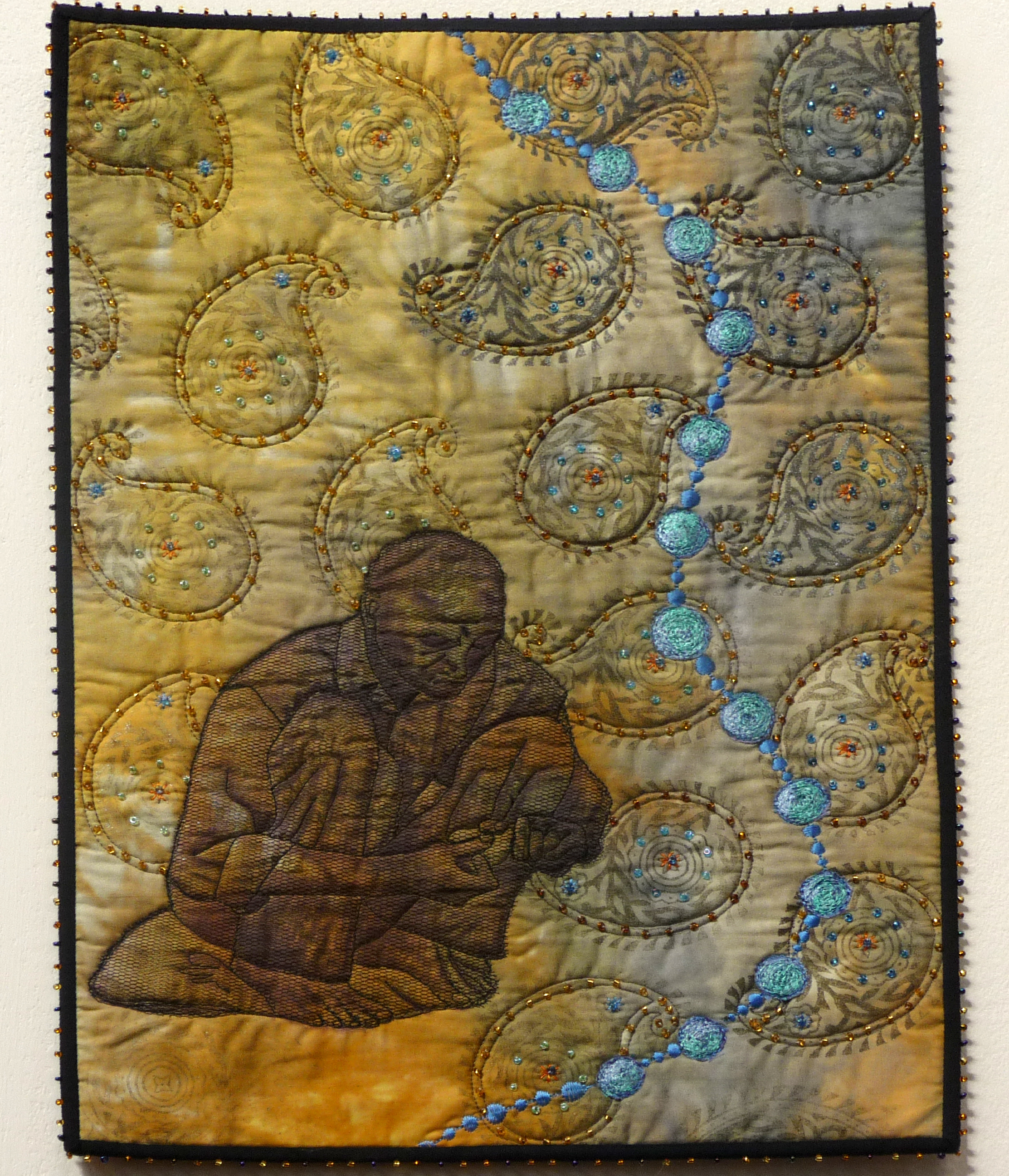 THE BEAD MAKER by Pat Archibald from Vayage Art Textiles