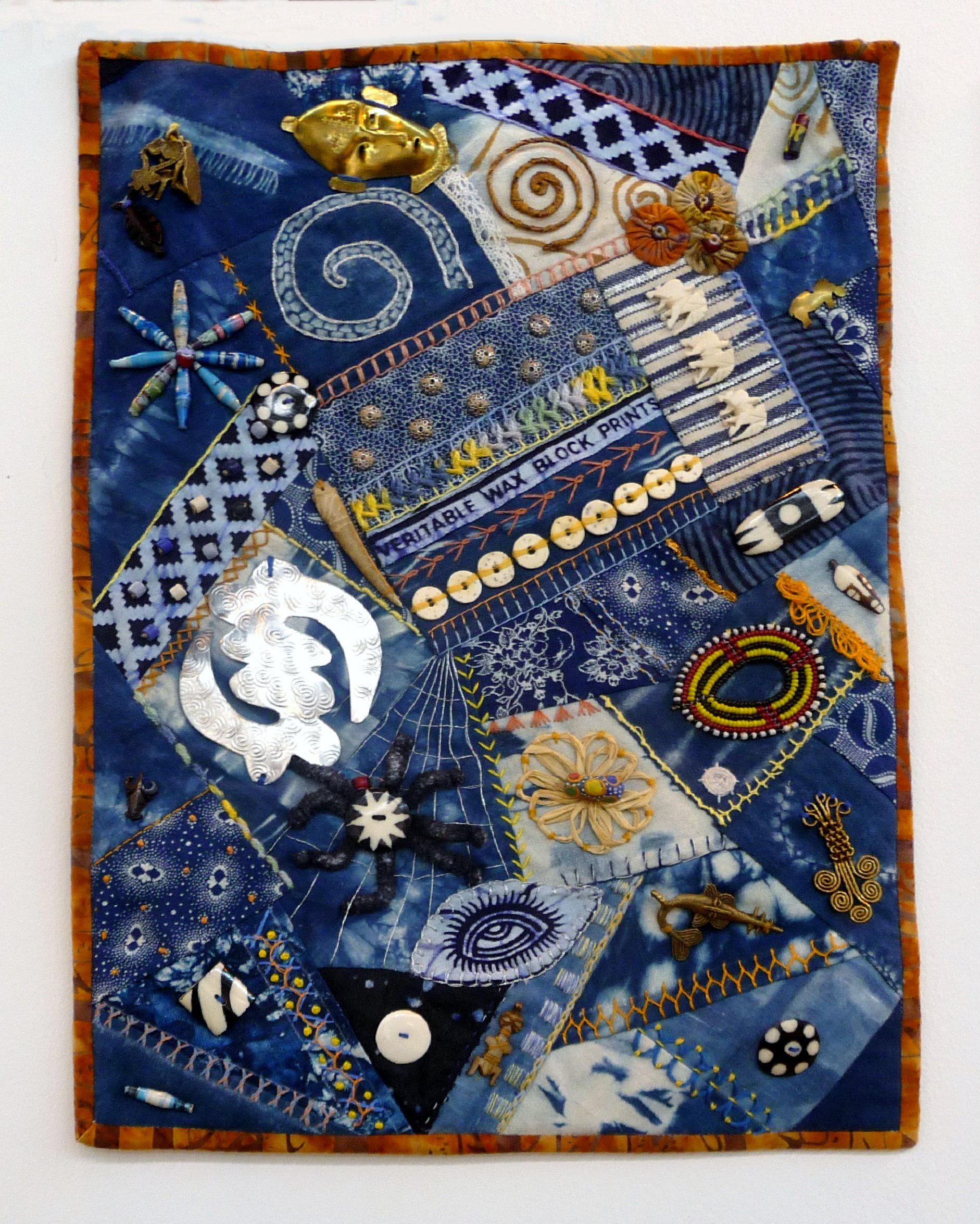 CRAZY FOR AFRICA by Gretchen Saunders Mwaura from Voyage Art Textiles