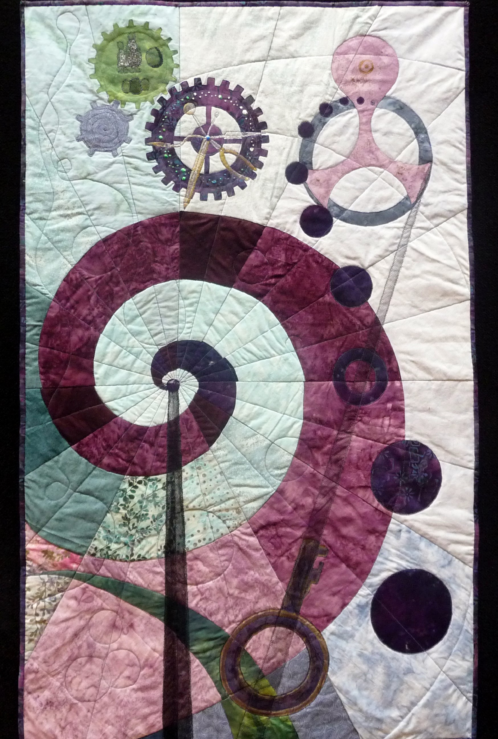 TIME by Samantha Townsend from Running with Scissors Textile Group