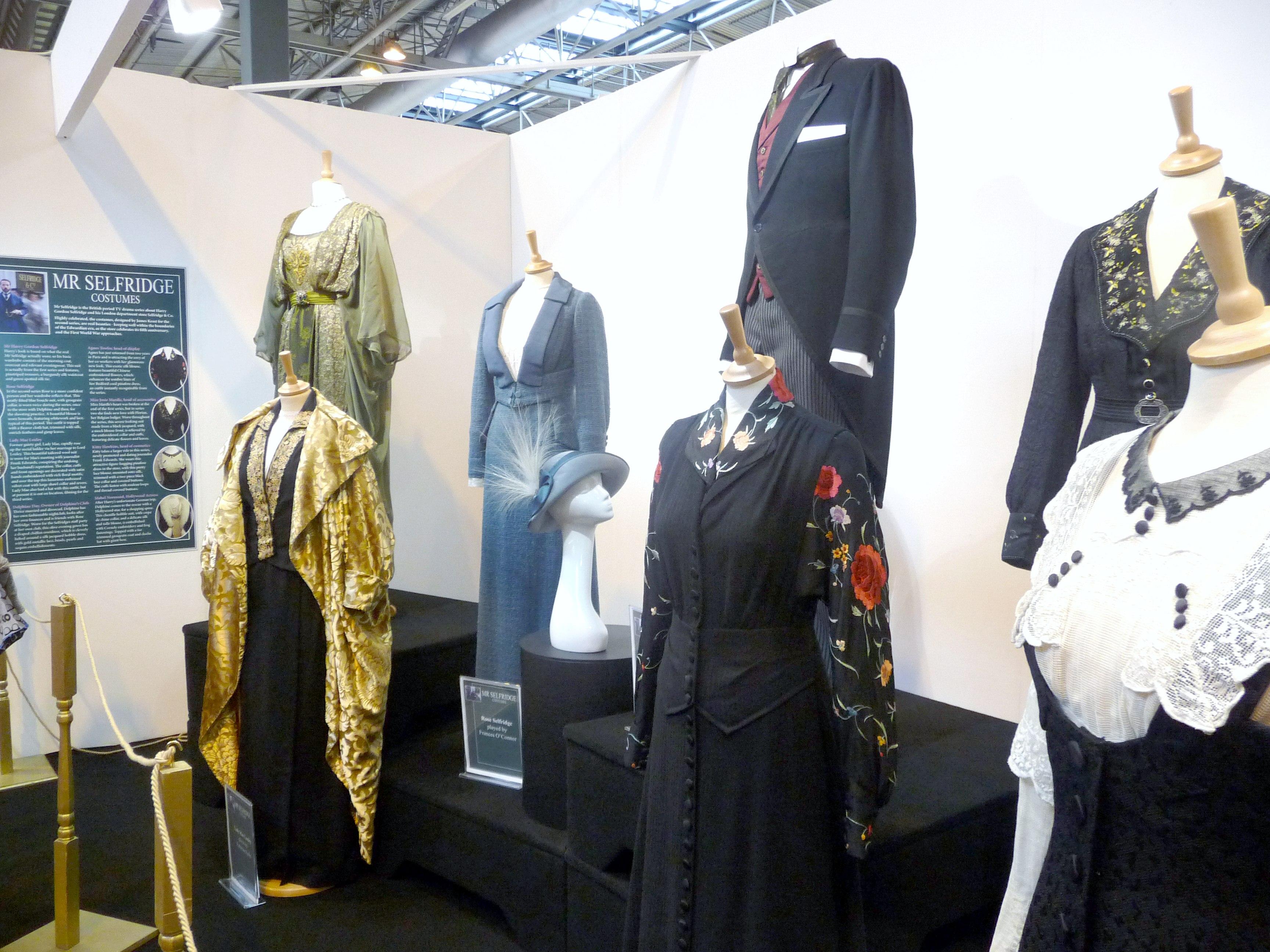 "costumes from ""Mr Selfridge"" TV drama"