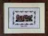 SPEKE HALL SOUTH SIDE by Eileen Sampson, cross stitch,  MEG display at NW Regional Day 2021
