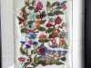 AN ENGLISH TUDOR GARDEN by Margaret Crichton, crewelwork and stumpwork embroidery, MEG display at NW Regional Day 2021