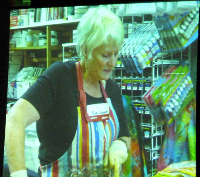 this is Ruth Isset demonstrating methods of dyeing