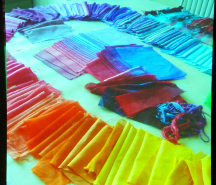 fabrics dyed at a Ruth Isset workshop