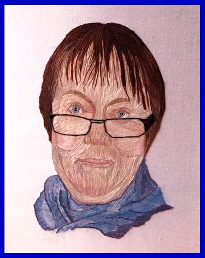 entry to MEG Christmas Competition 2020. Joint 2nd Prize winner. MARIE STACEY by Gill Roberts