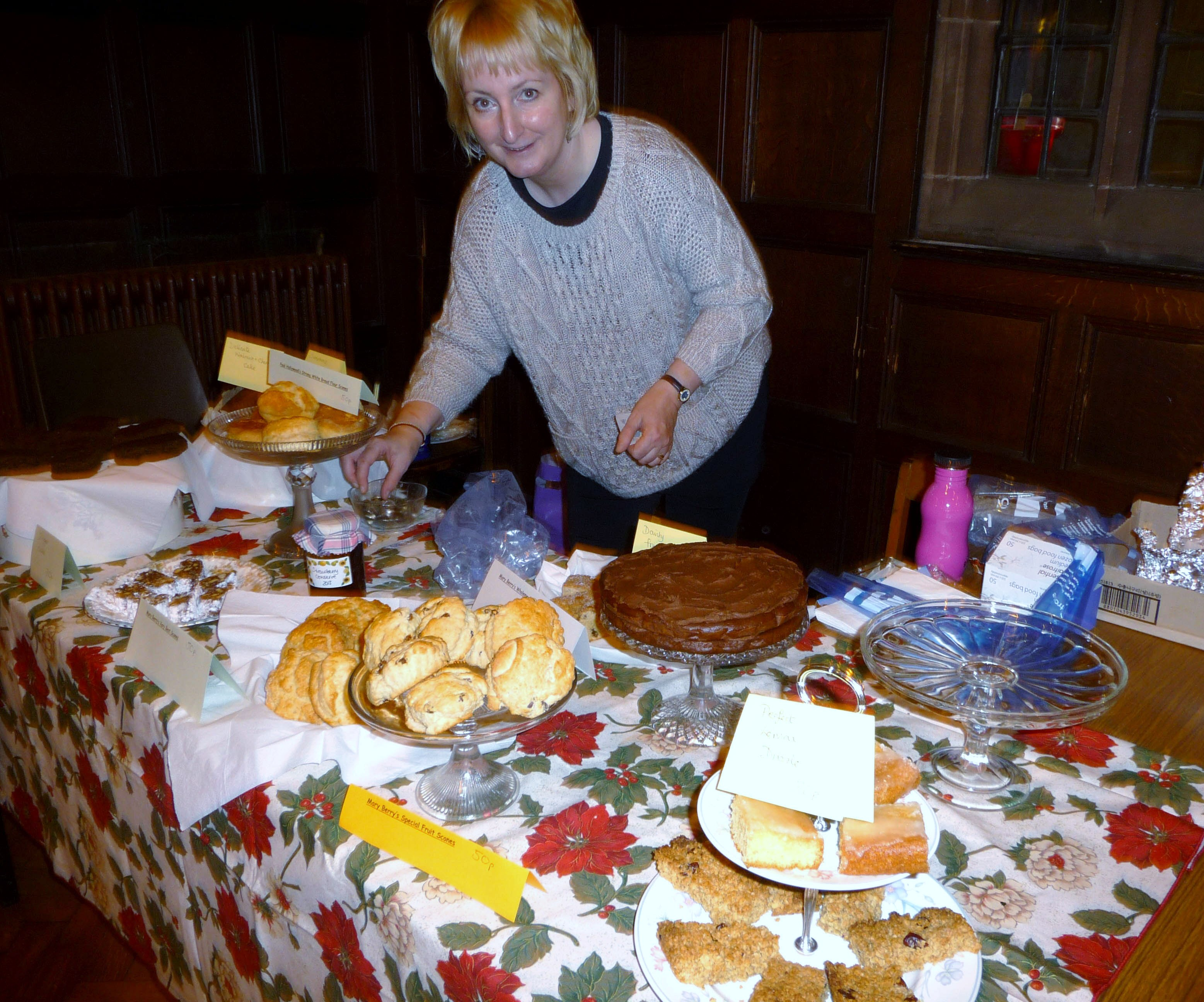 Sarah is preparing her home-made cake stall