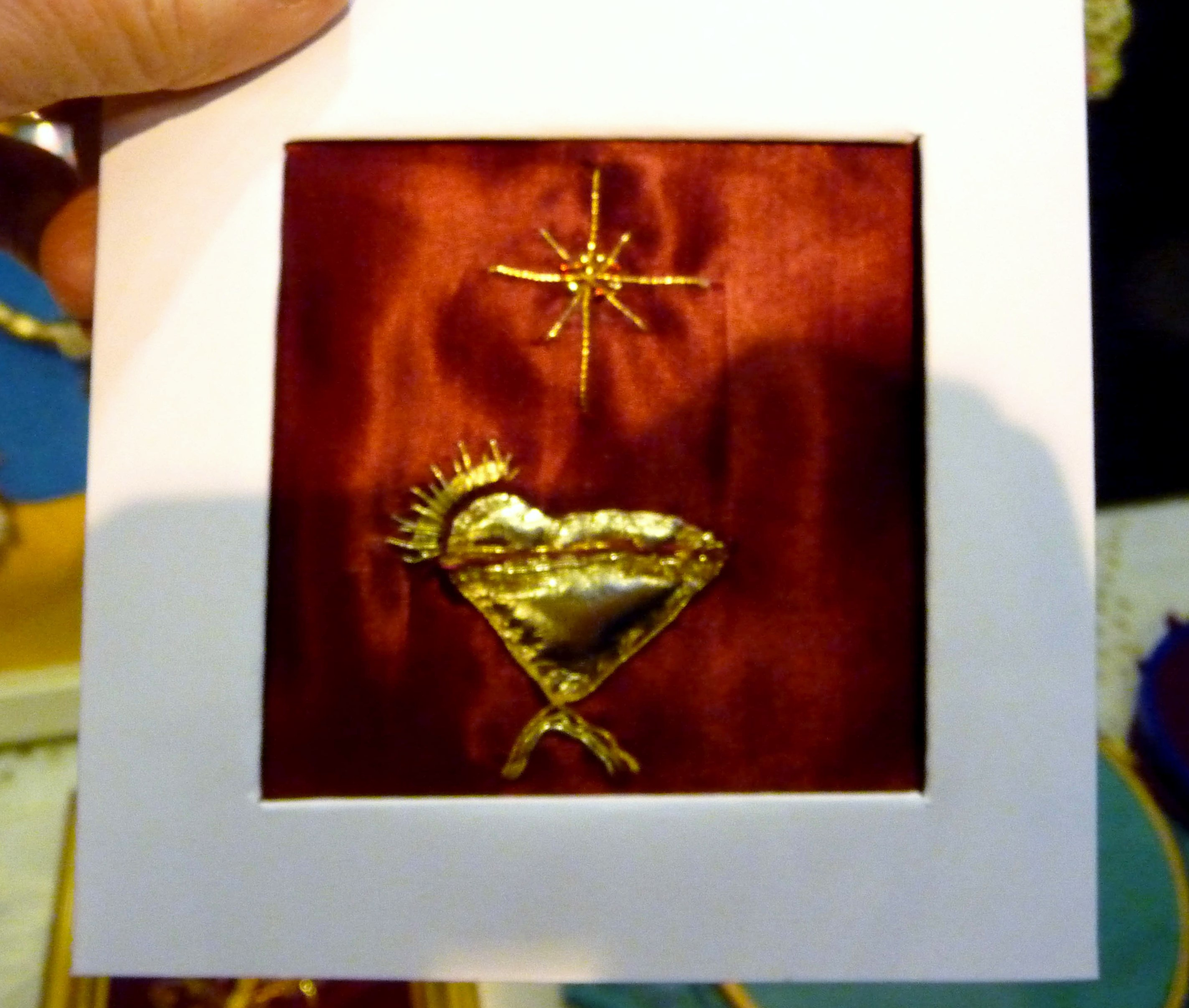 goldwork embroidery at MEG Christmas Party 2013