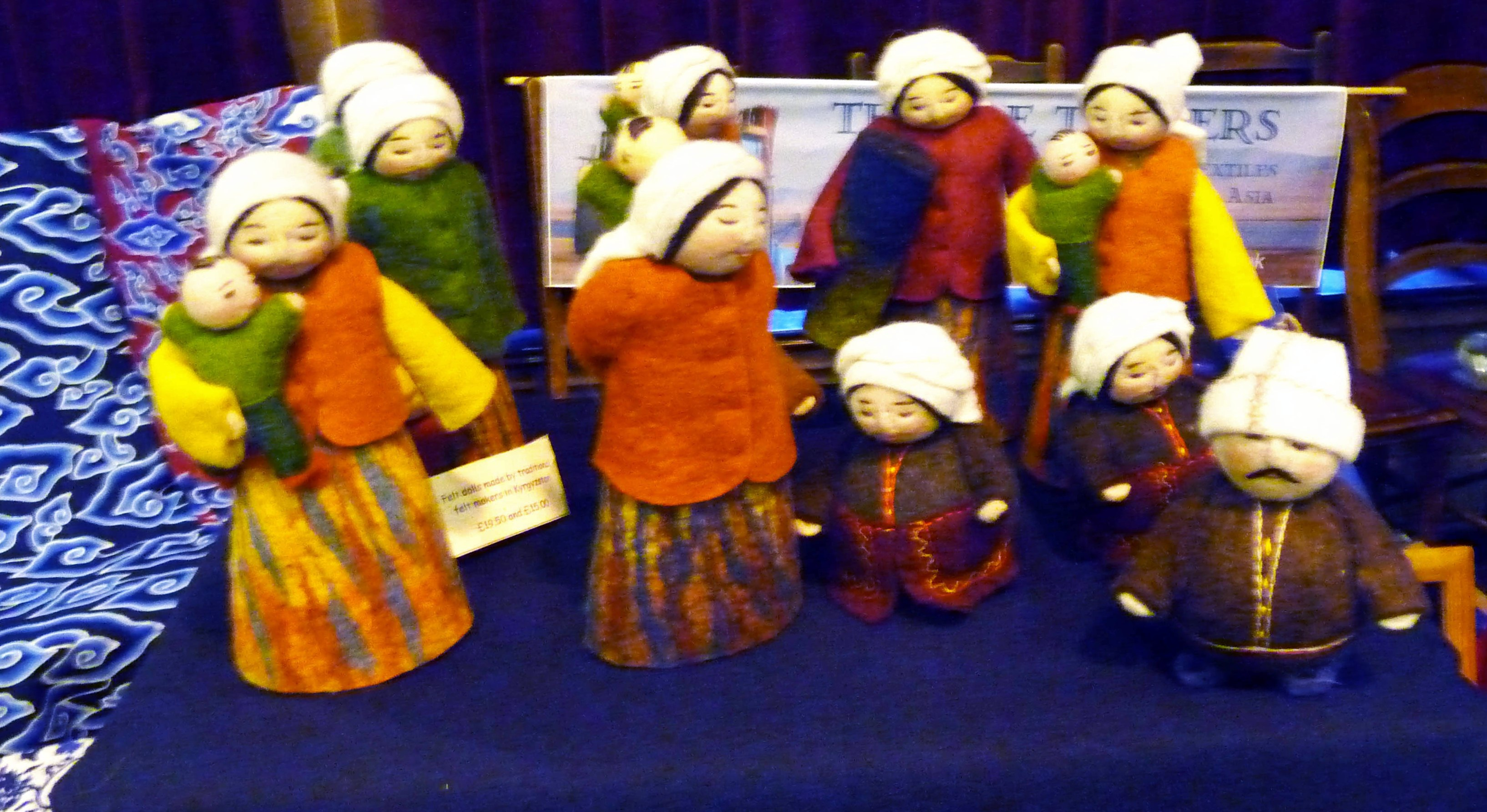 felt ornaments made in Kurdistan and on sale at Textile Traders