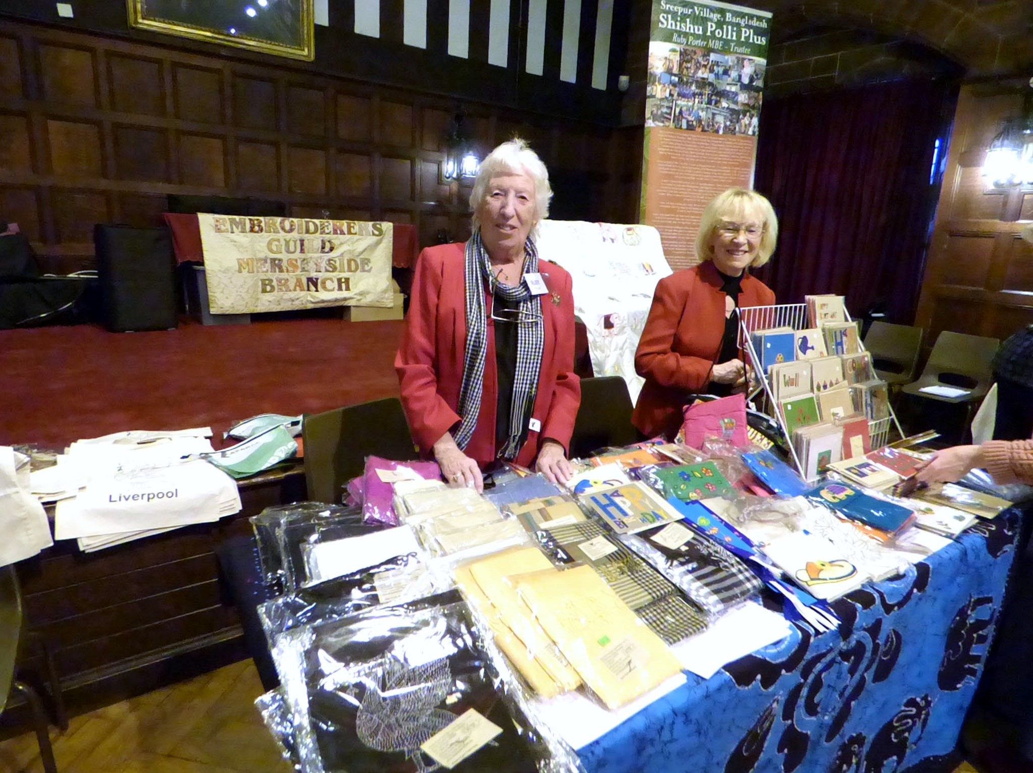 Ruby and Kathy with the popular Sreepur stall ant MEG Christmas Party 2017
