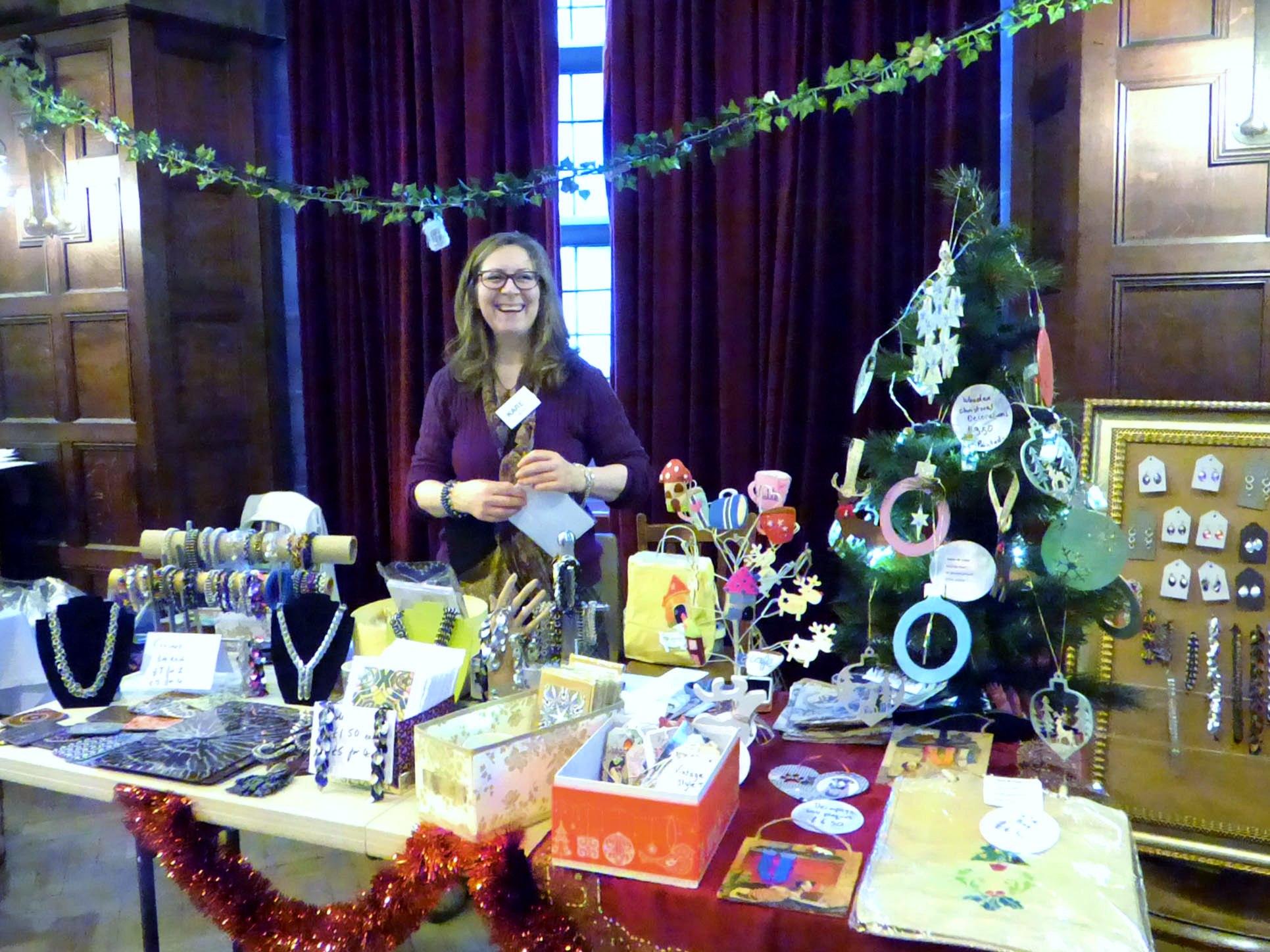 Karen Scott at joint stall in MEG Christmas Party 2017