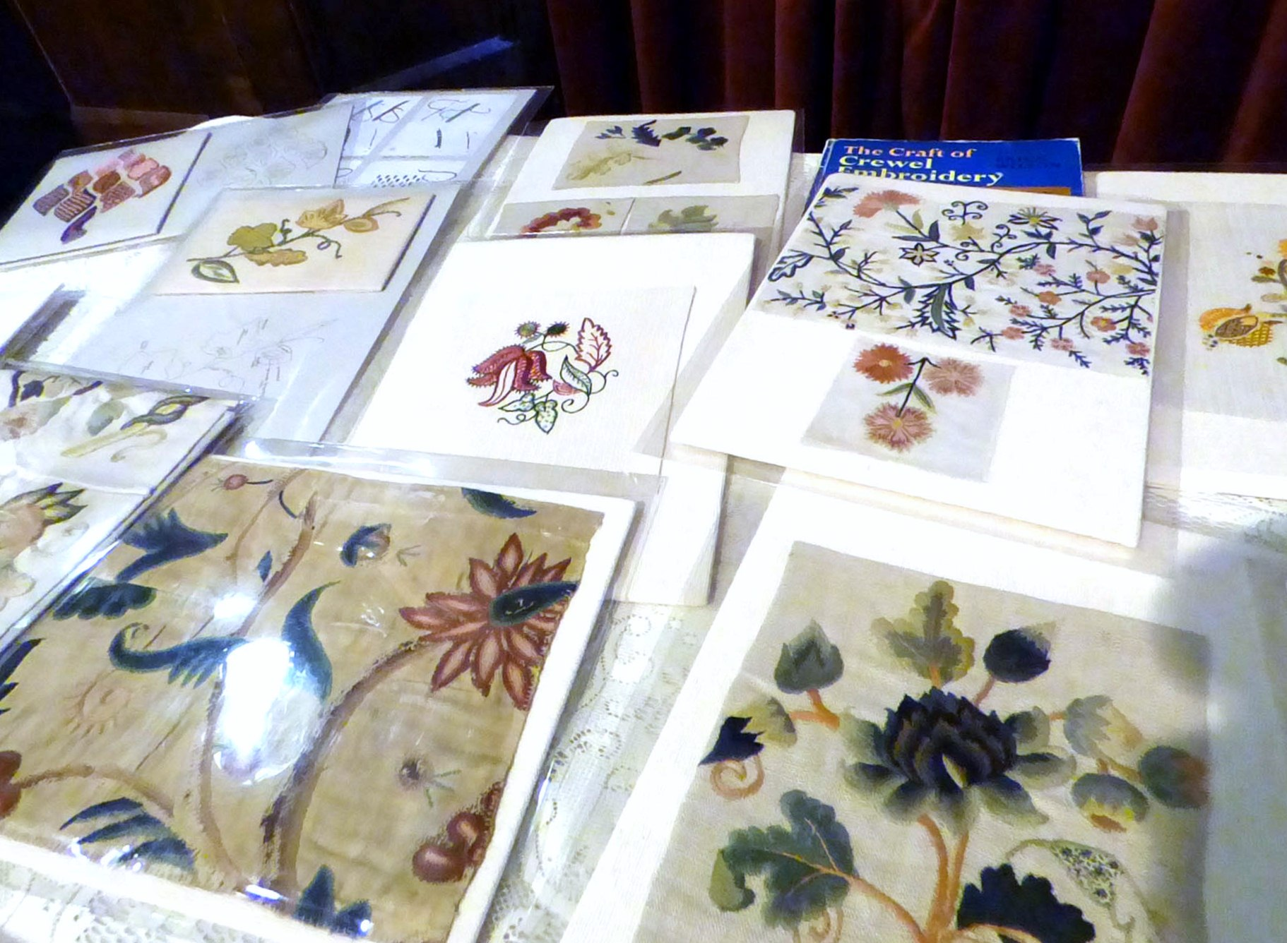 the crewelwork folio from EG HQ on display at MEG Christmas Party 2017