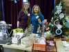 Karen M Evans - Exquisite Peach and Karen A Scott, studio buddies at MEG Christmas Party 2017