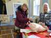 """Liz and Eileen with """"Pass the Parcel"""" at MEG Christmas Party 2019"""