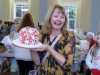 Liz won a wonderful Christmas cake on the Tombola at MEG Christmas Party 2019