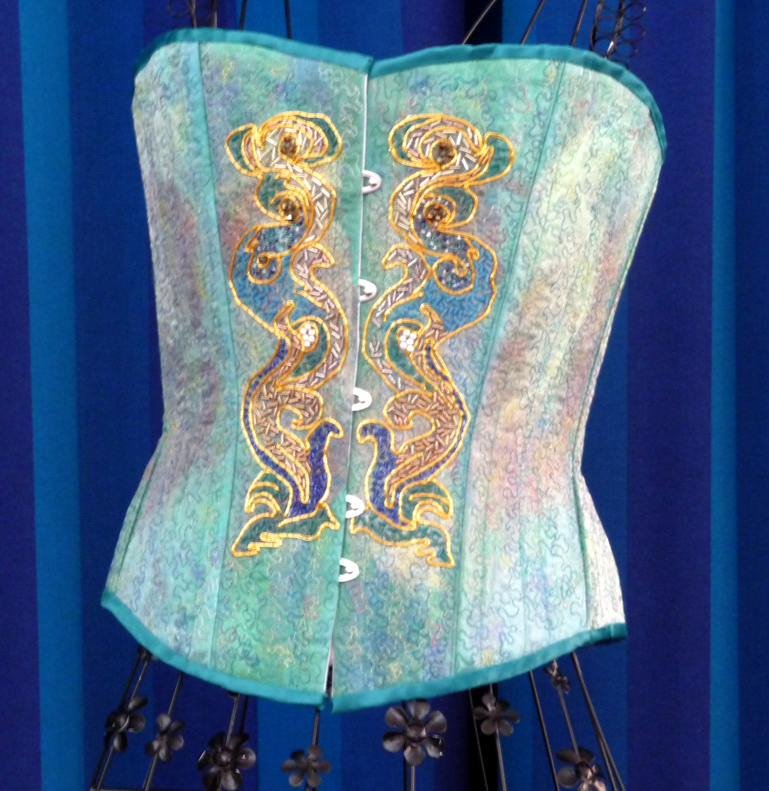 corset embroidered by Gill Roberts