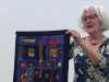 Elsie Watkins sharing her work with N.Wales EG, October 2017