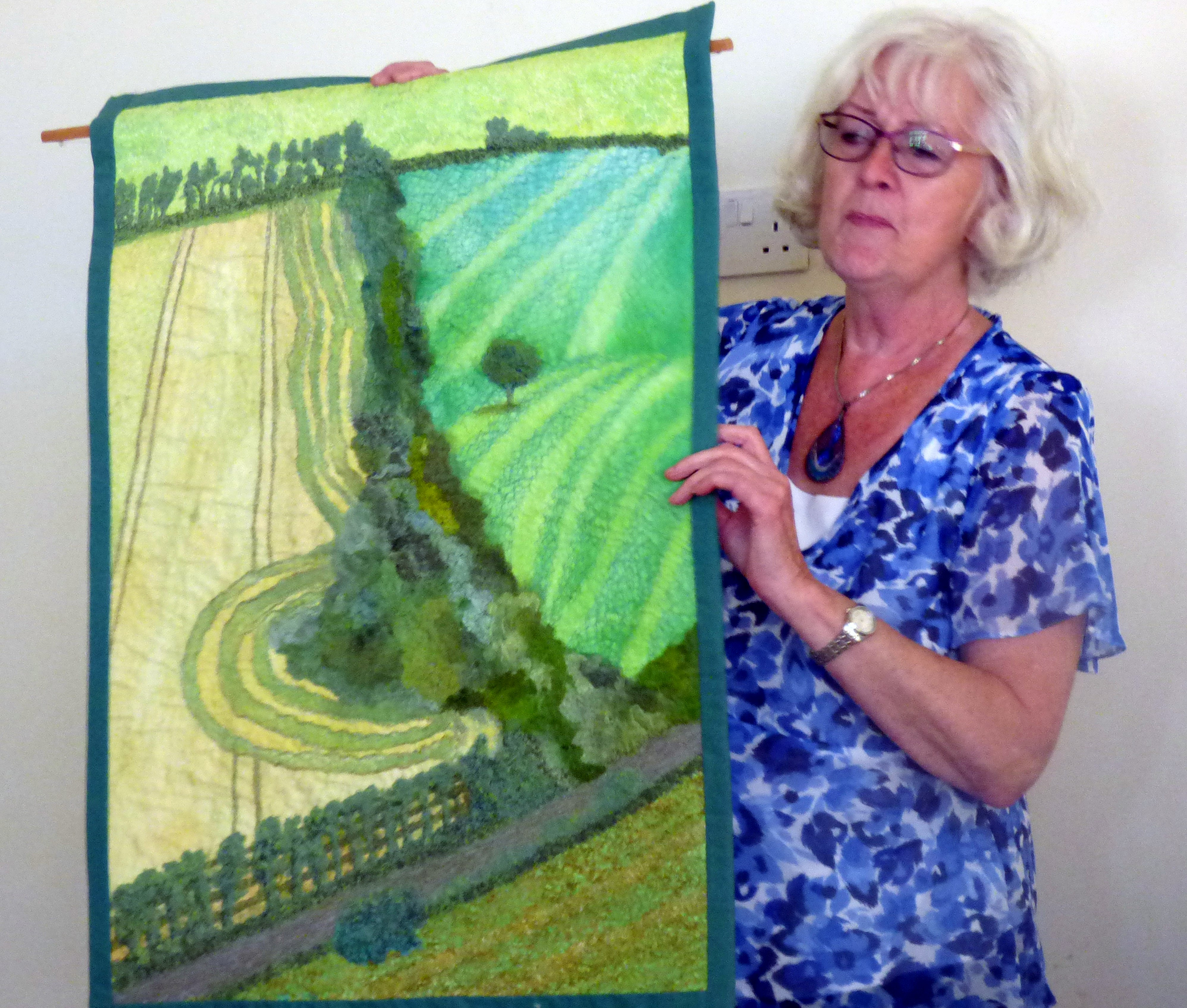 Elsie Watkins is talking to Glossop EG about her textile journey