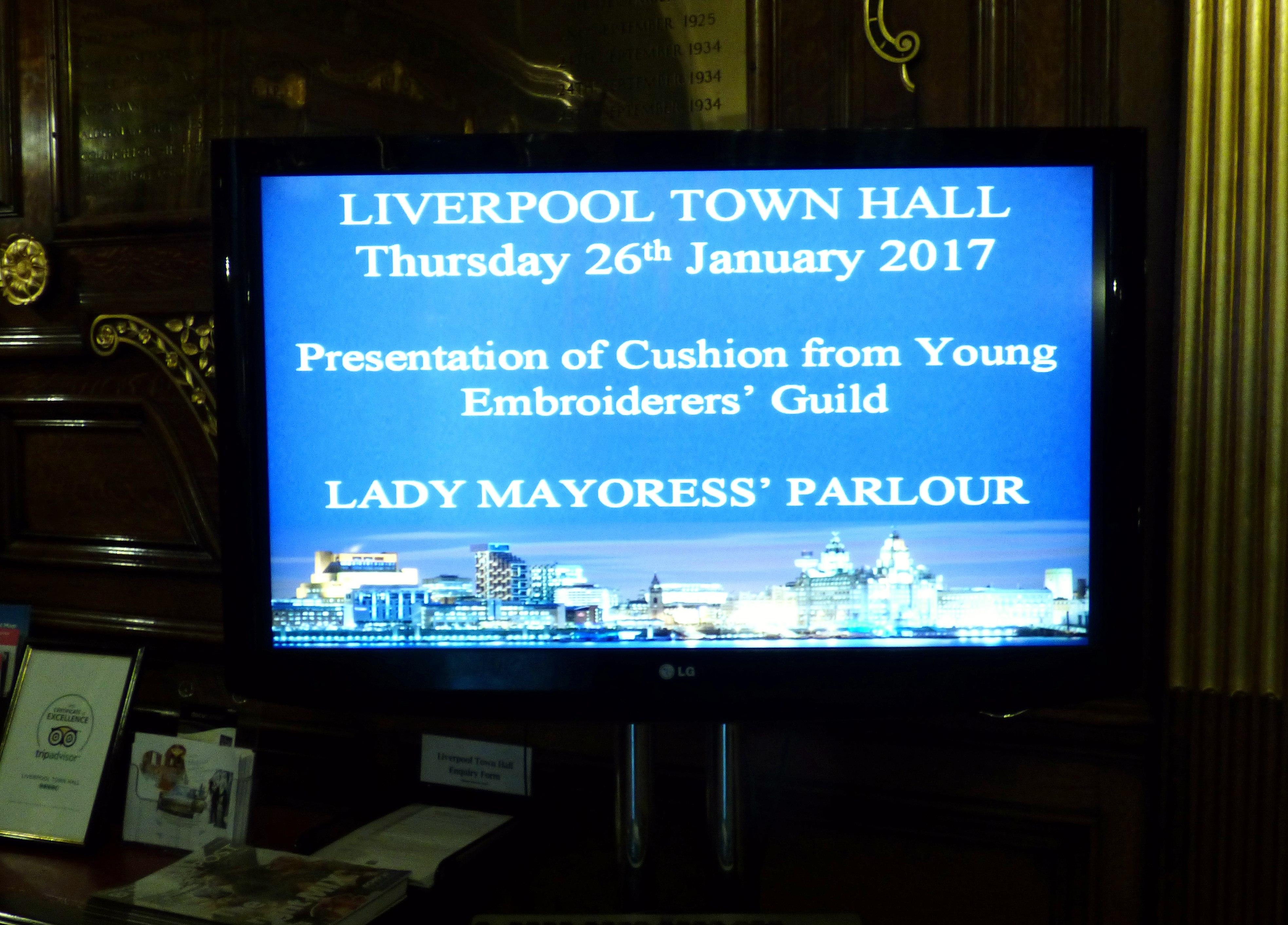 Merseyside YE at Liverpool Town Hall, Jan 2017