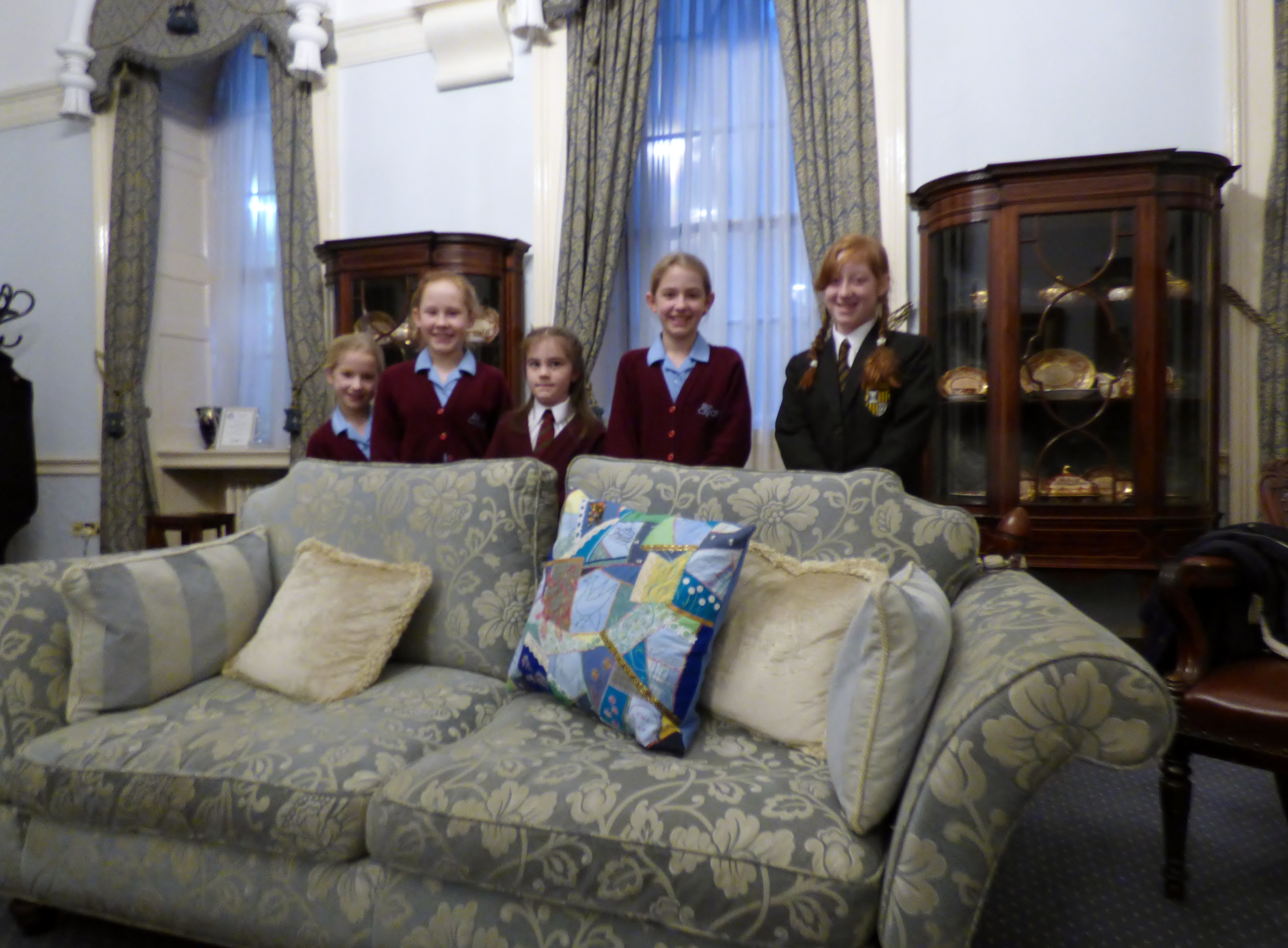 Merseyside YE at Liverpool Town Hall, Jan 2017. We presented a cushion to Liverpool Lord Mayor Cllr. Roz Gladden