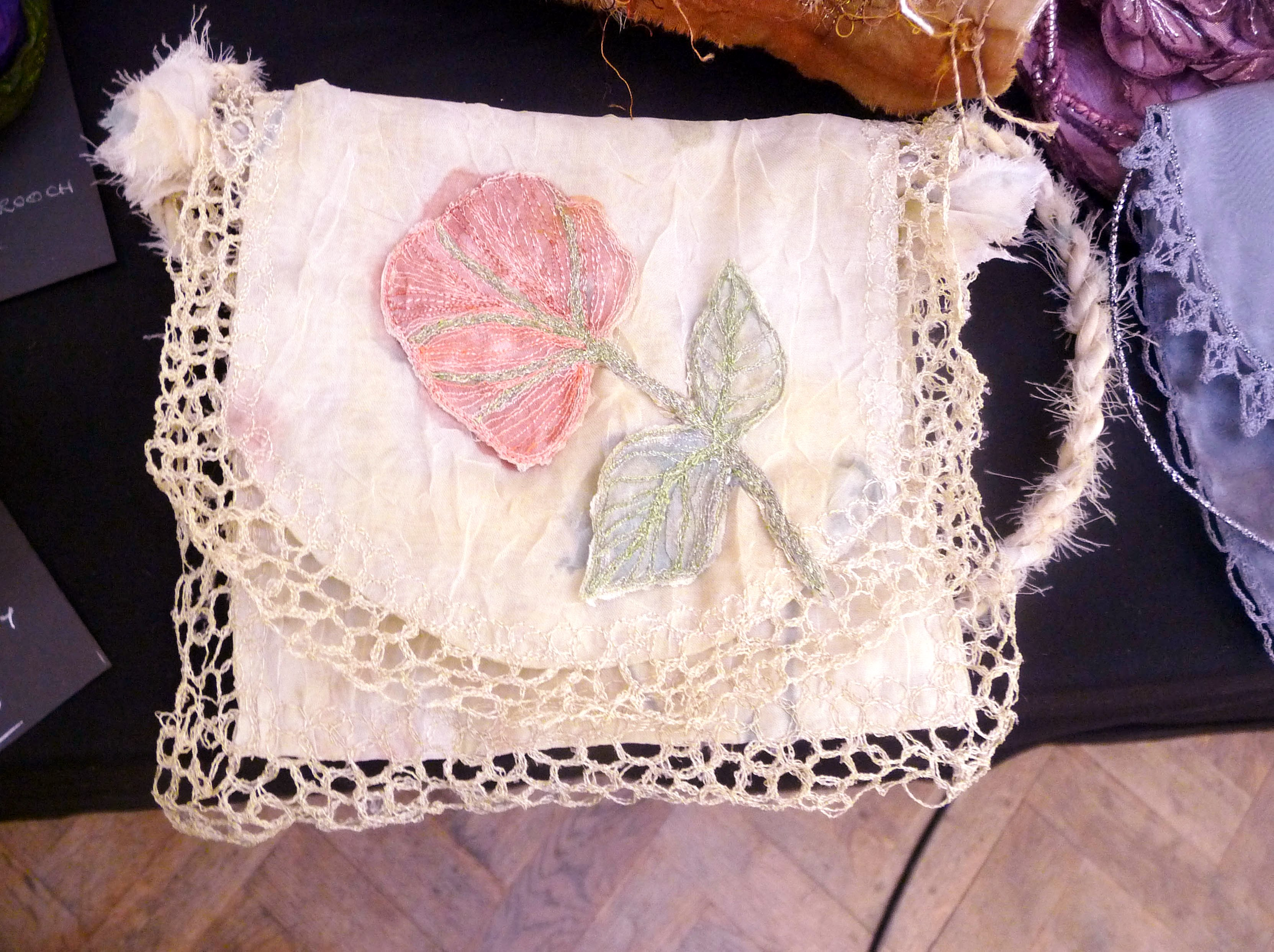 embroidered bag by Moya McCarthy