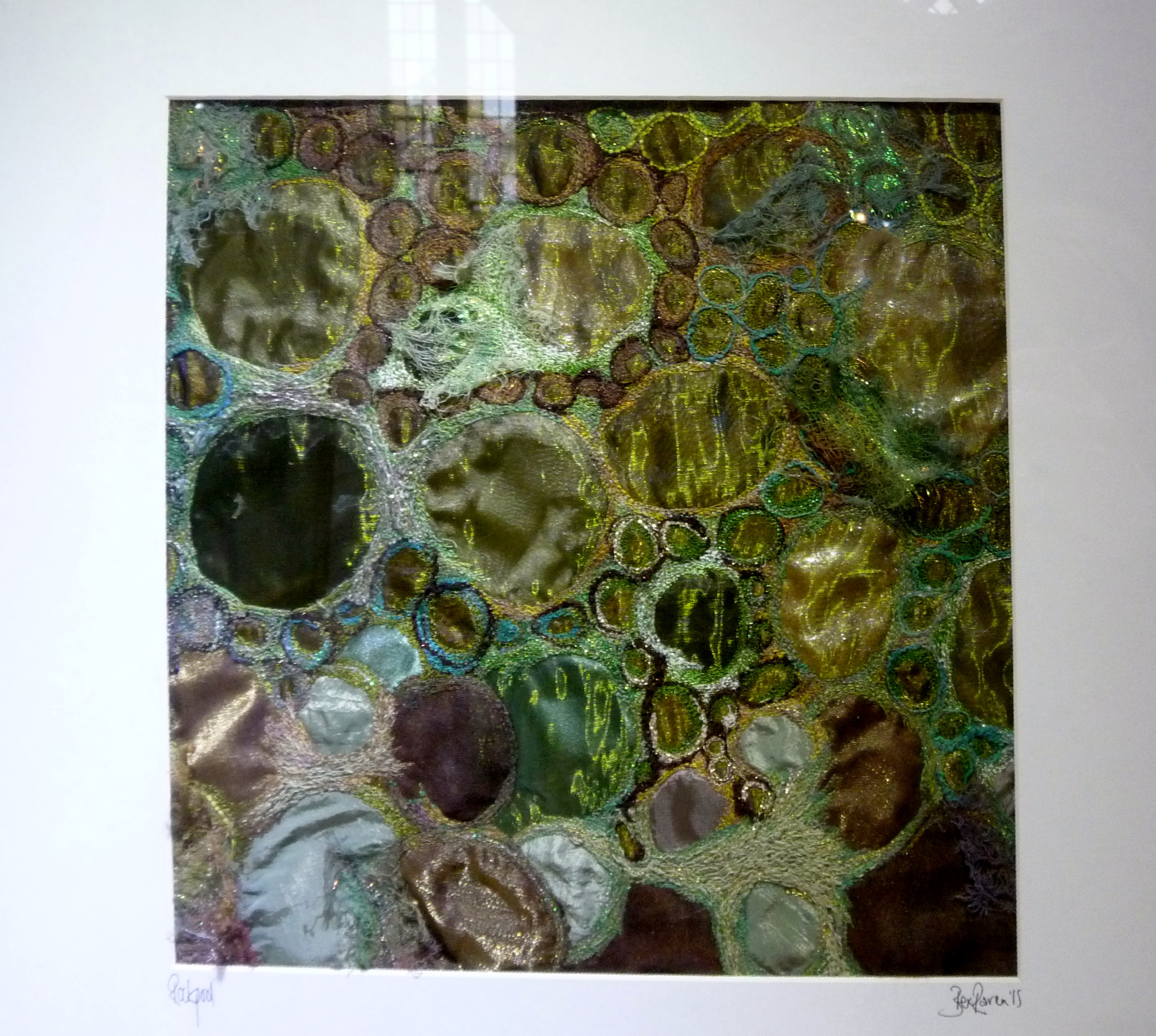 ROCKPOOL by Bex Raven, free machine embroidery