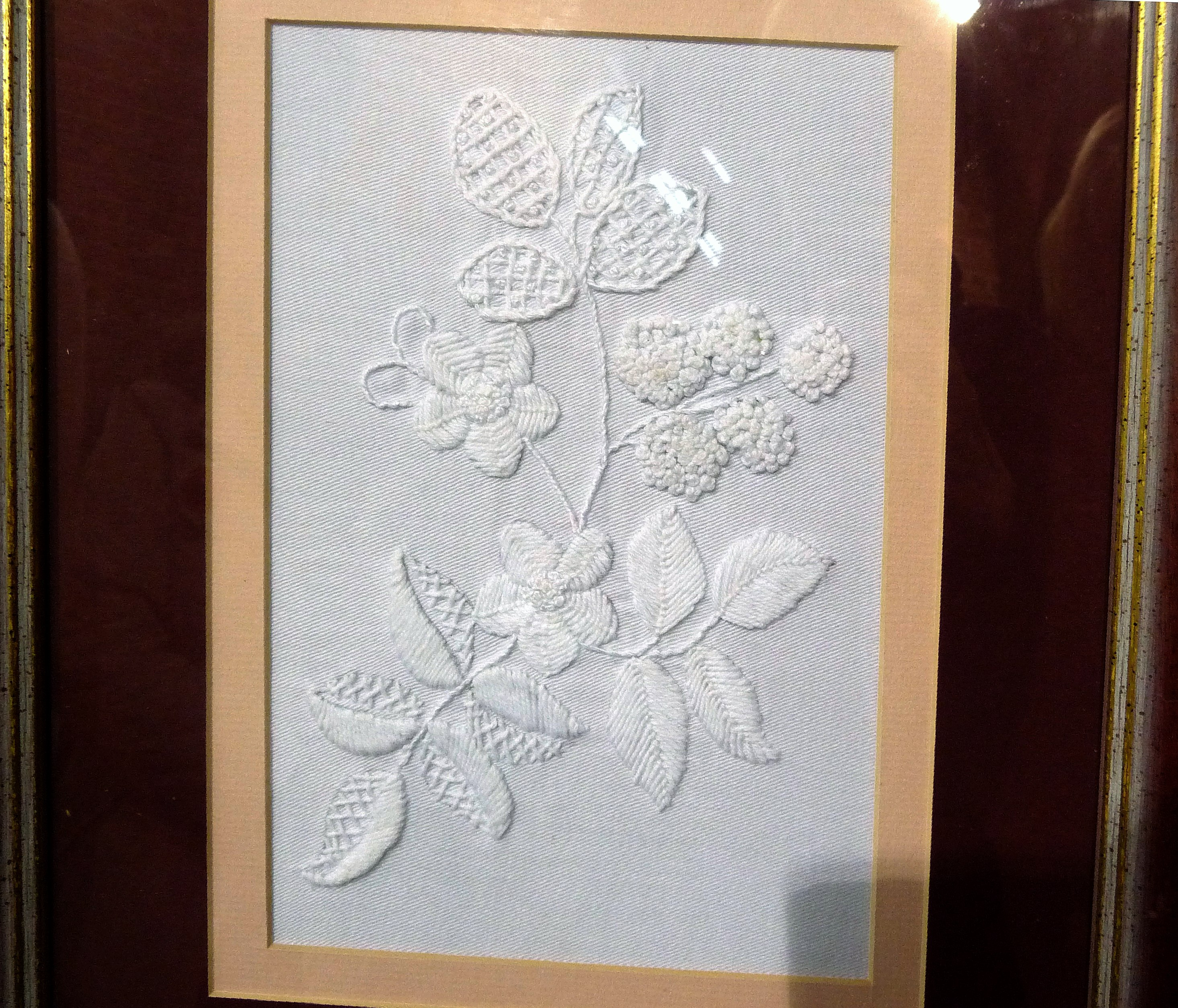 MOUNTMELLICK TABLE CENTRE by Brenda Baxter, hand embroidery- Montmellick