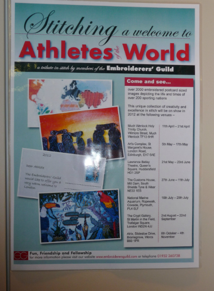 """""""Sporting Nations Postcards"""" poster incorporating Janet's winning design"""