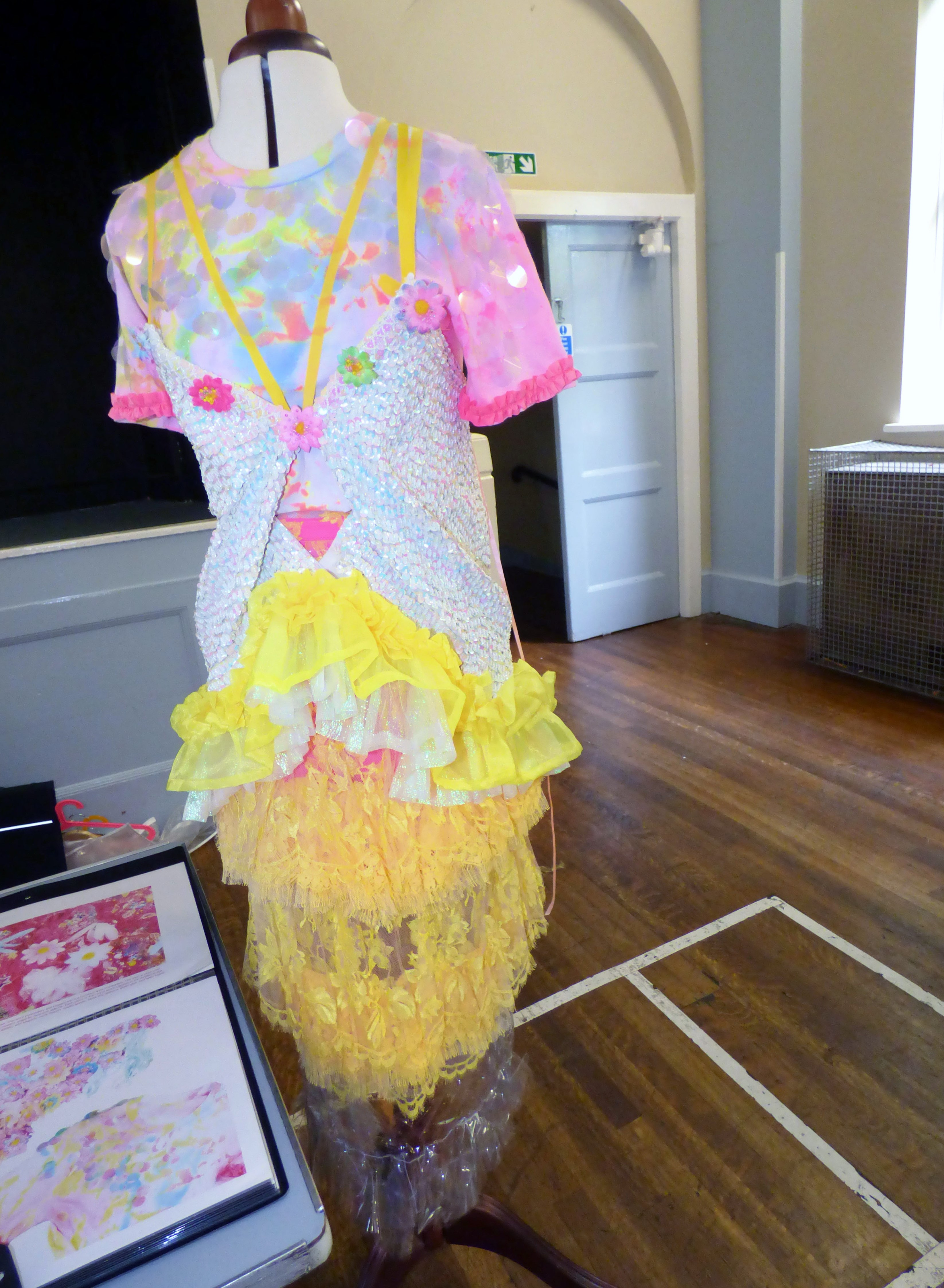 a fashion display by Niamh Conway-our 2015 Joint Bursary Winner- MEG Summer Tea Party 2017