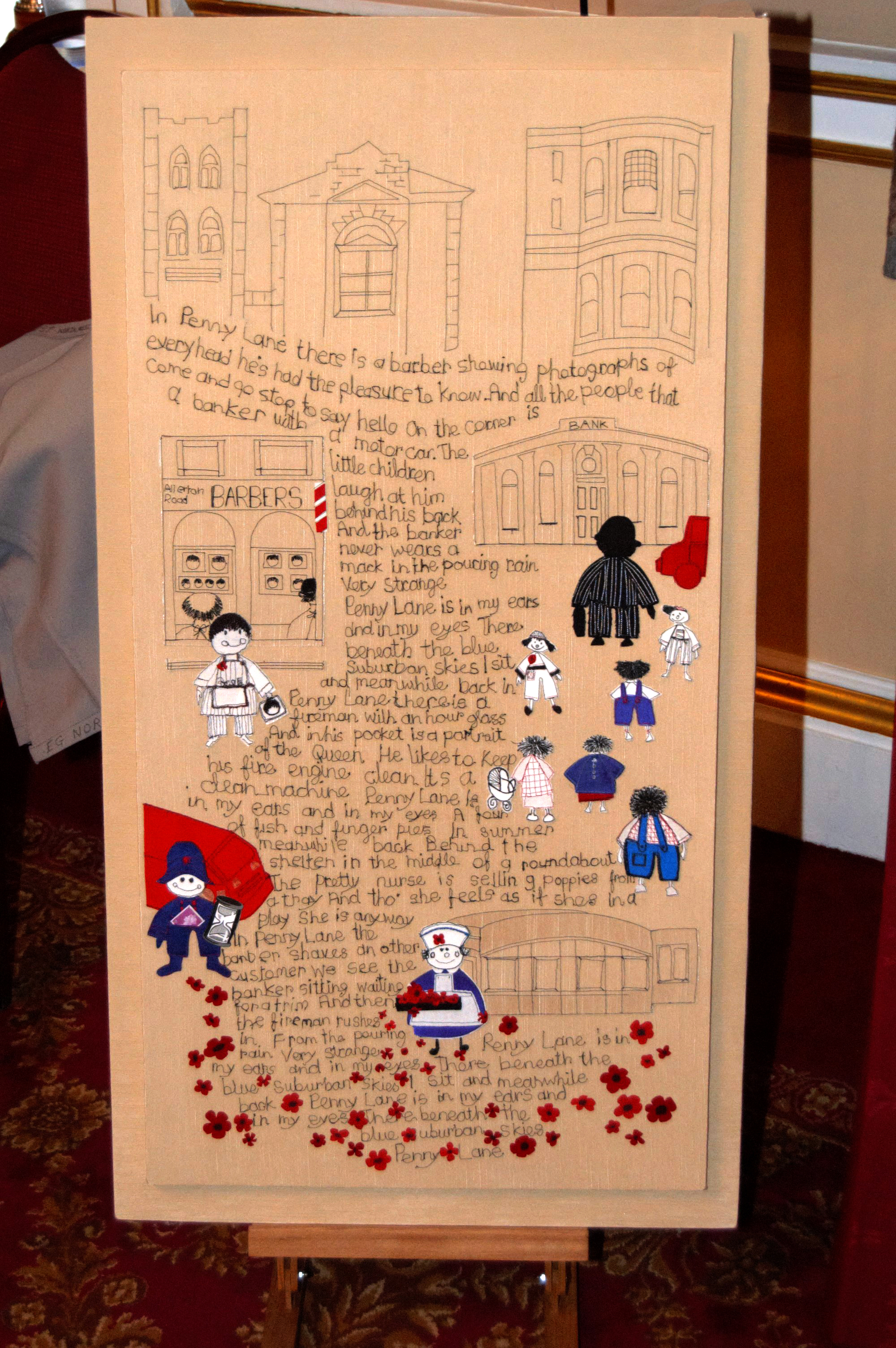 """winner of  Rosebowl Competiition """"Penny Lane"""" at NW Regional Day 2008 in Liverpool Town Hall"""