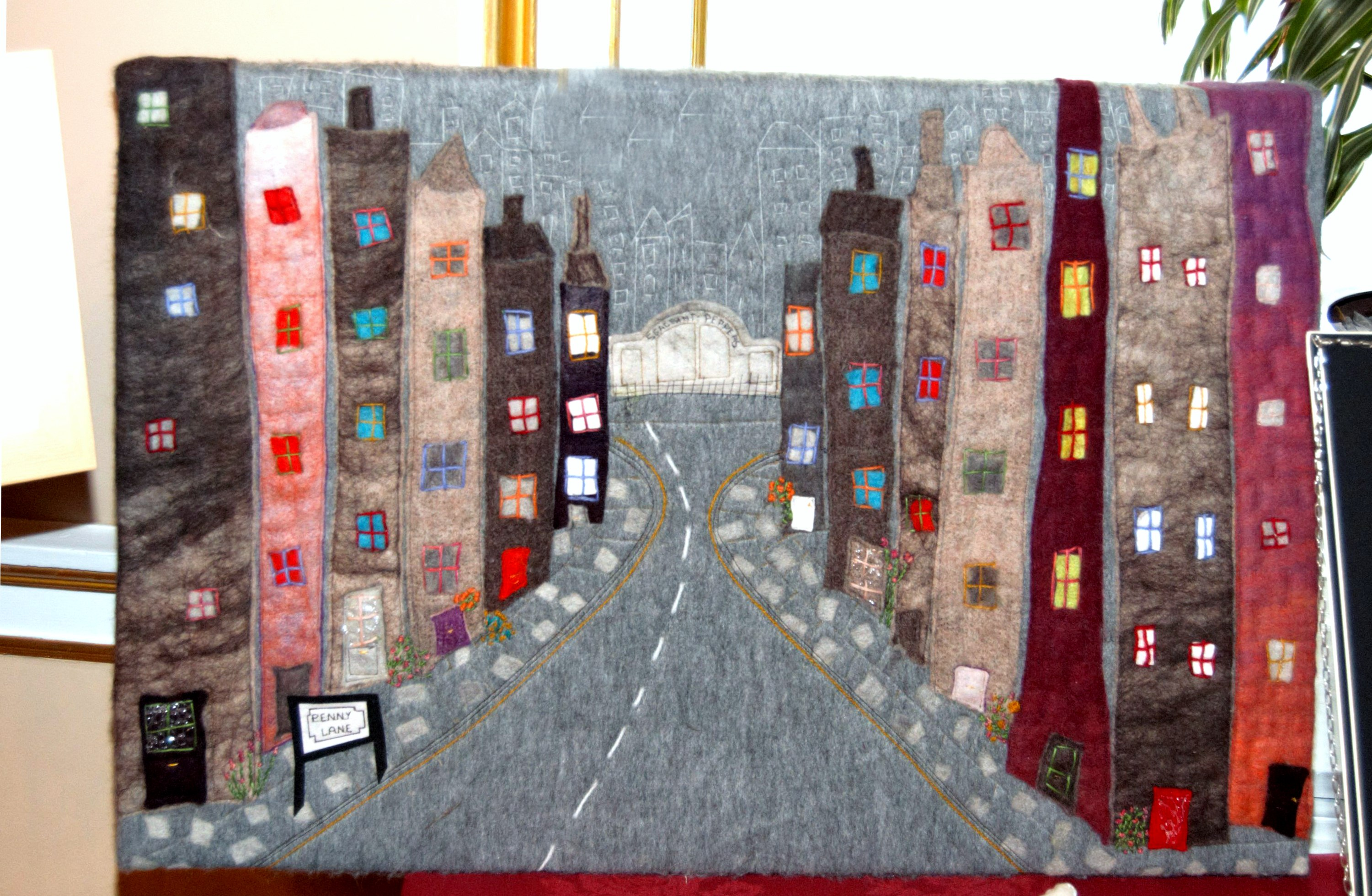 """entry to Rosebowl Competiition """"Penny Lane""""NW Regional Day 2008 in Liverpool Town Hall"""