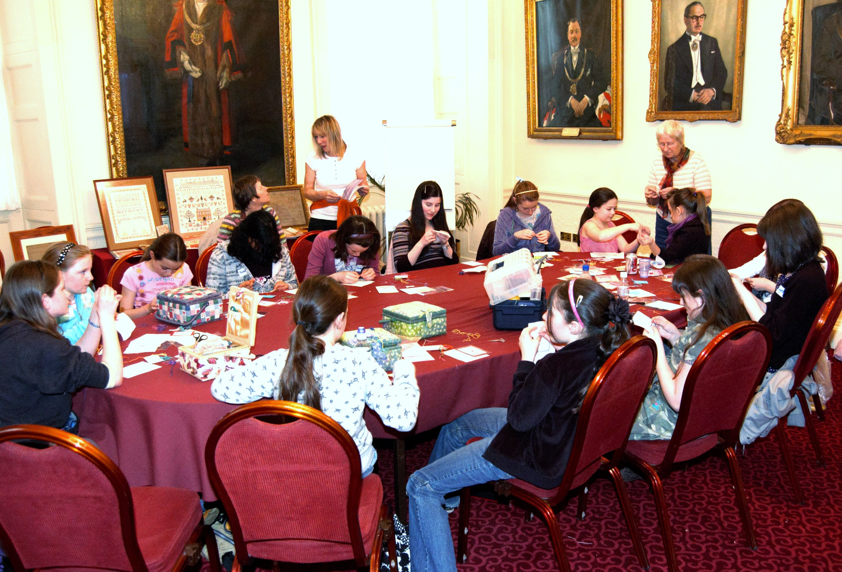 workshop for Young Embroiderers at NW Regional Day 2008 in Liverpool Town Hall