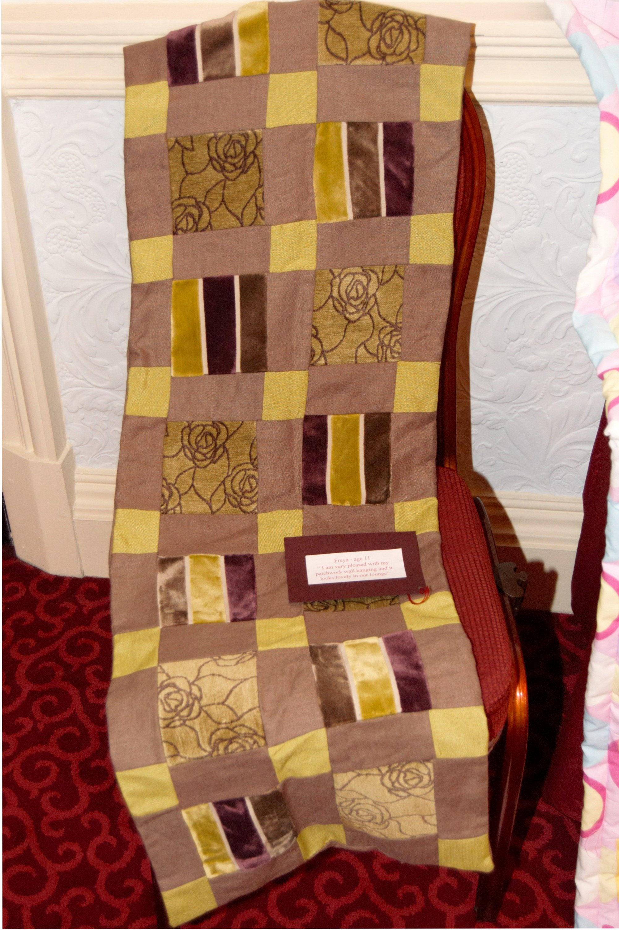 quilt made by Freya, age 11,  NW Regional Day 2008 in Liverpool Town Hall