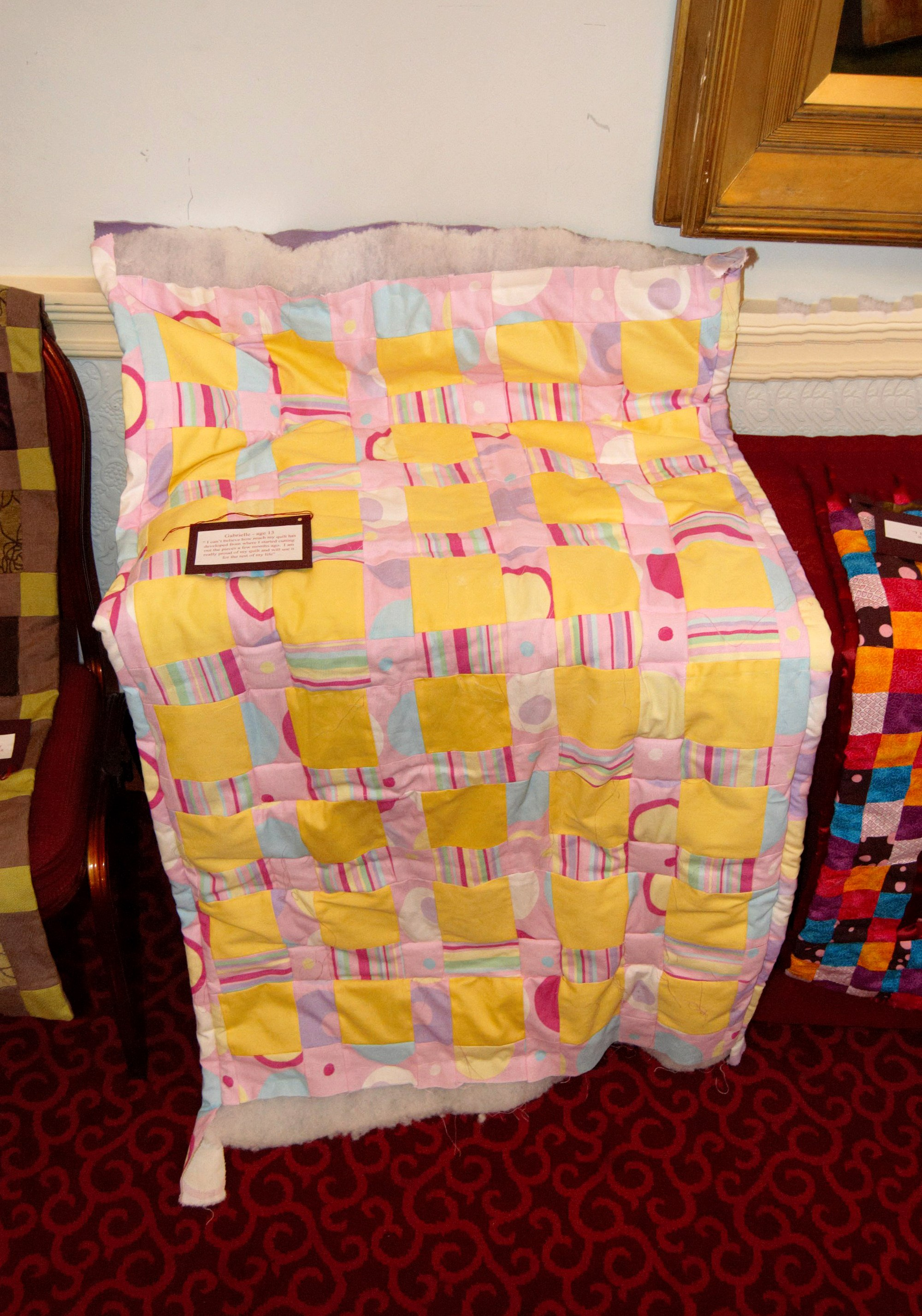 quilt made by Gabrielle, age 13, at   NW Regional Day 2008 in Liverpool Town Hall