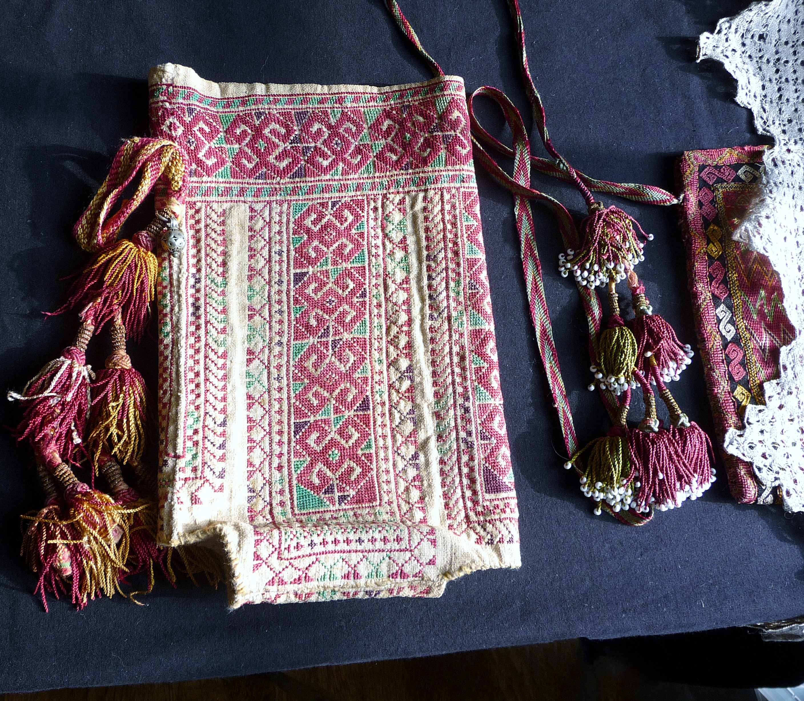 antique embroidered bag by Qaraqalpaq people
