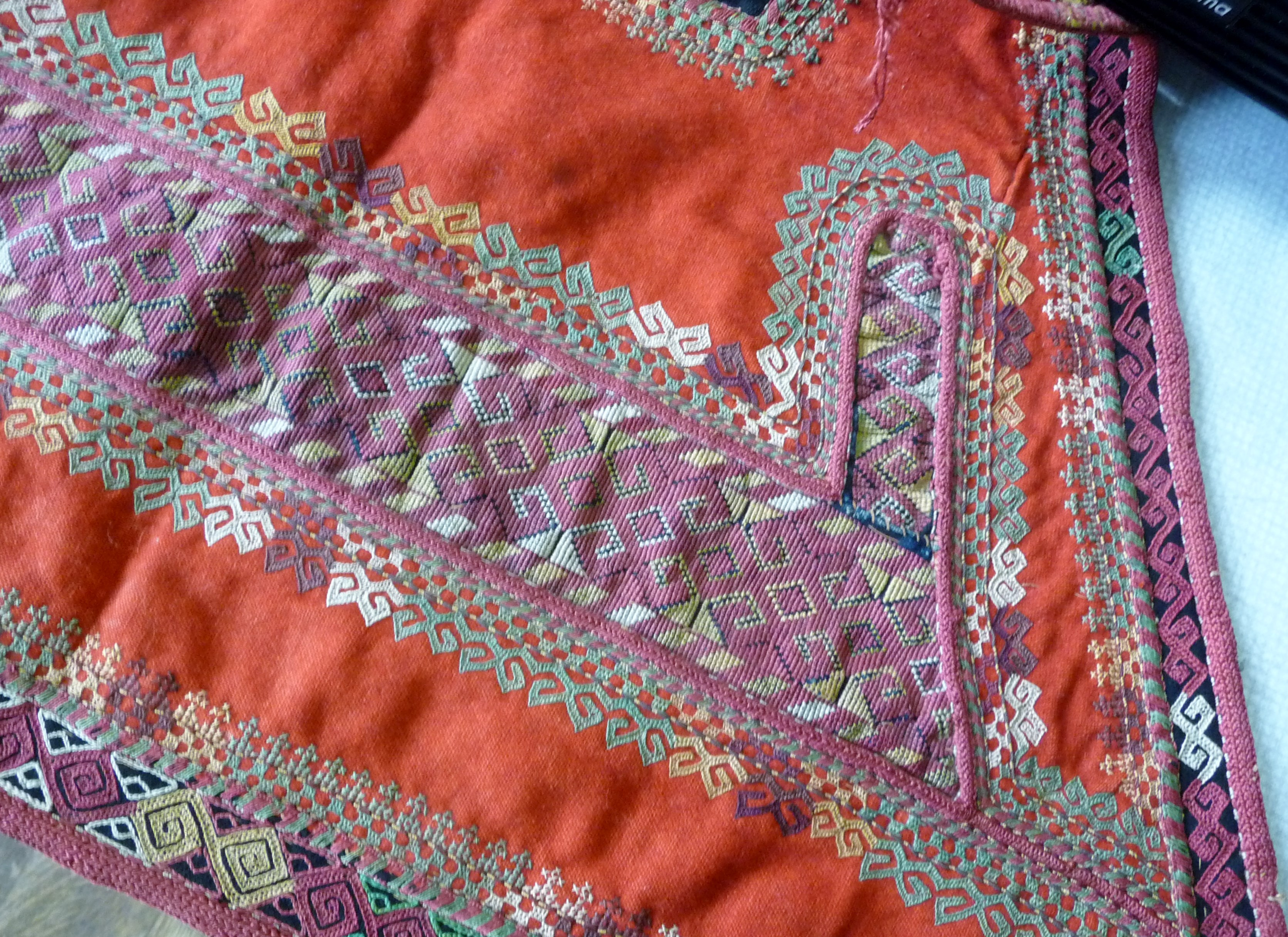 detail of embroidery by Qaraqalpaq people
