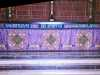 slide showing High Altar Passiontide Frontal, Liverpool Cathedral embroideries Talk by Vicky Williams 2019