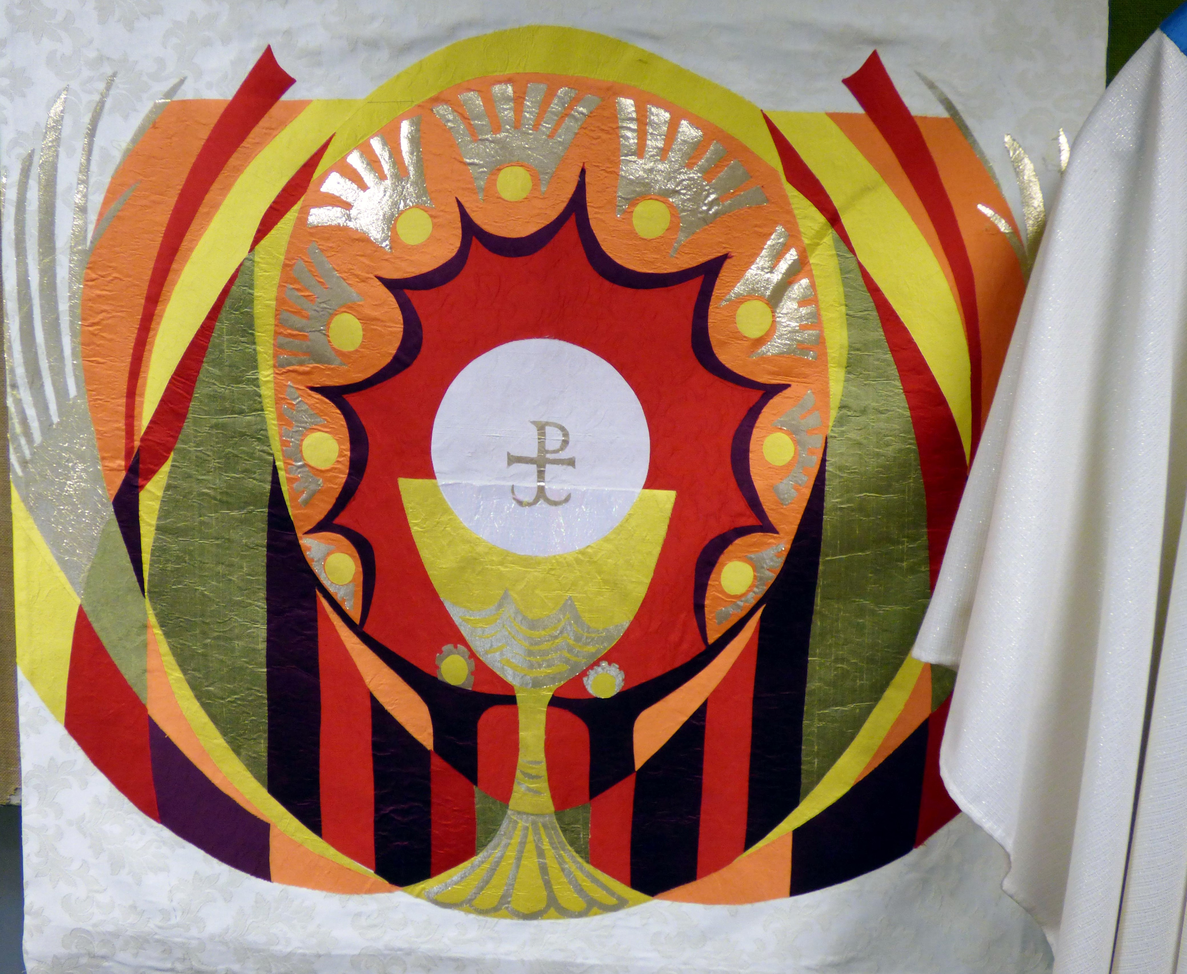 EASTER ALTAR FRONTAL at Embroidery Studio open day, Liverpool Metropolitan Cathedral 2017