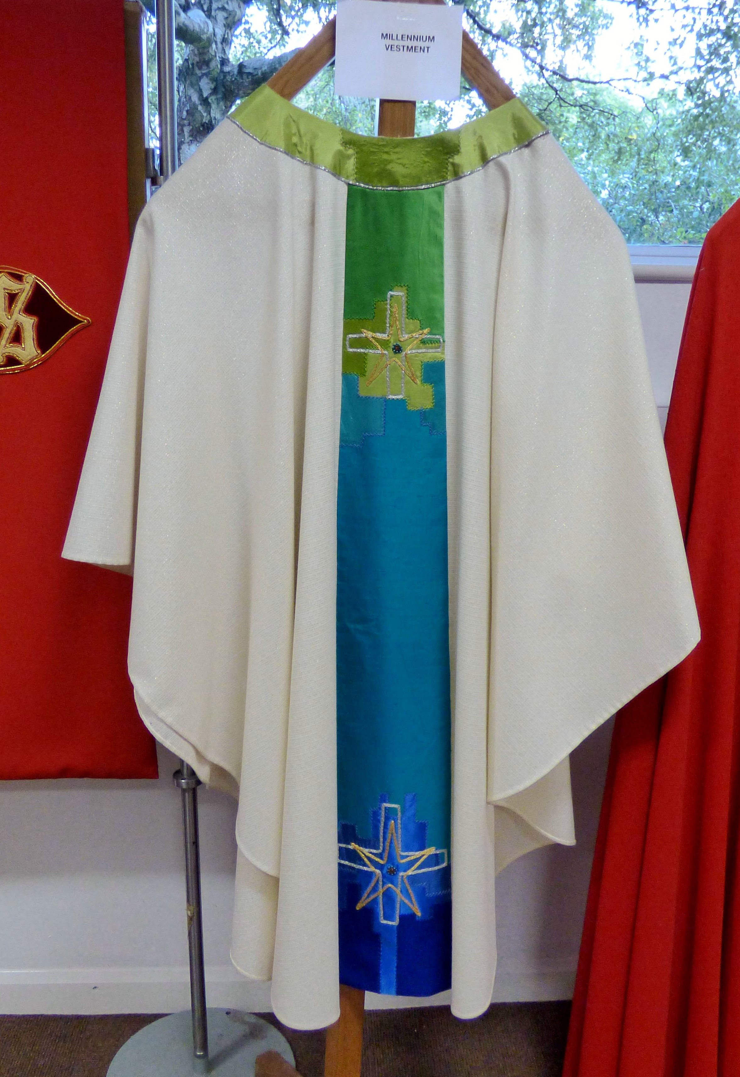 MILLENNIUM VESTMENT at Embroidery Studio open day, Liverpool Metropolitan Cathedral 2017