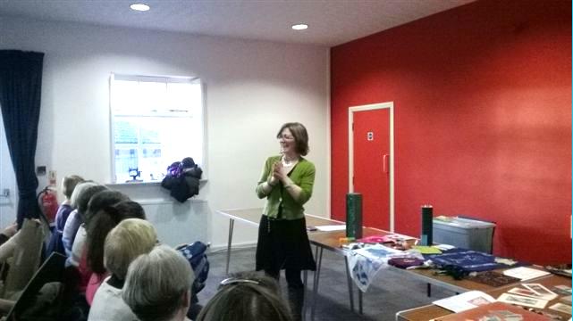 Karen Scott describing her work at Parbold EG