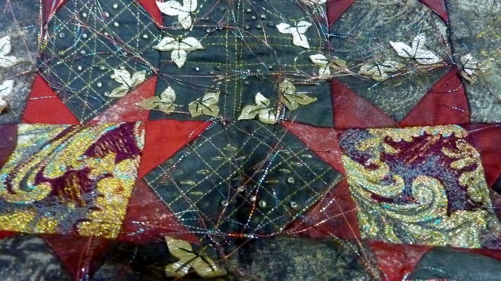 RESSURECTION, pieced and machine embroidered panel by Norma Heron